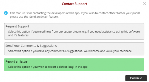 Integrated Support Form